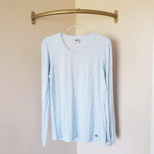ALO Yoga Long Sleeve Burnout Tee Blue L